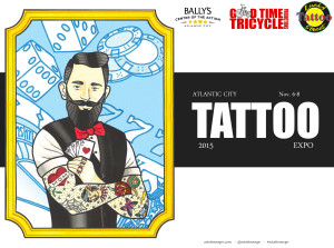 Joey Tattoo and Ben Towers will be tattooing at the AC Tattoo Expo 11/2015